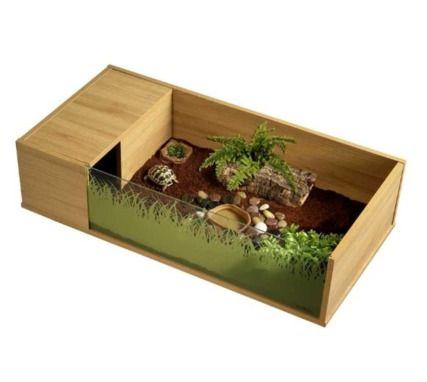 parc en bois pour tortue